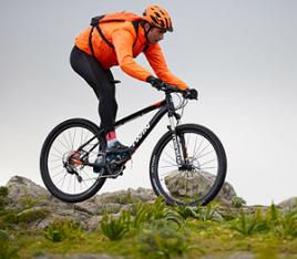 Mountainbike techniek statisch evenwicht
