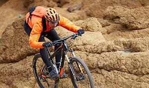mountainbike hindernissen voorwiel
