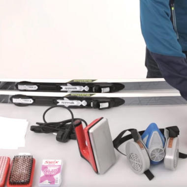 Pflege und Wartung von Langlaufskiern