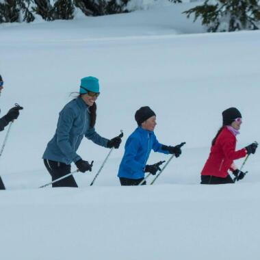 Skilanglauf als Familie ausüben