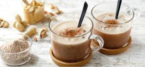chocolate peanut protein milkshake