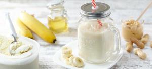 banana protein milkshake