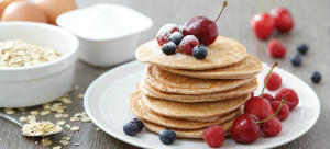 red fruit protein pancakes