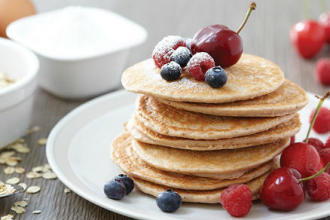 pancake protéines fruits rouges