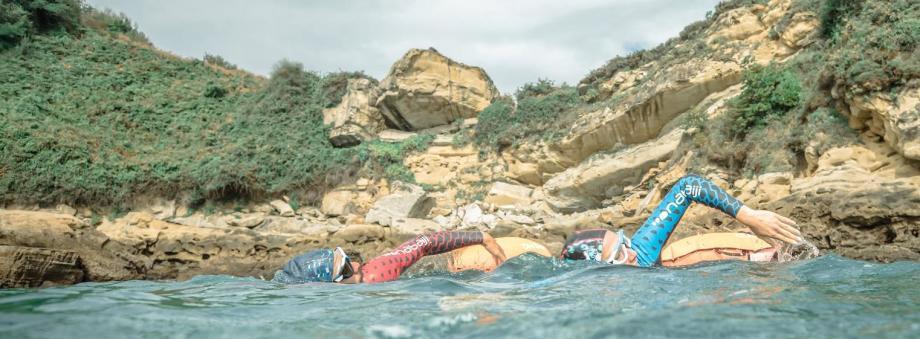 Träning i öppet vatten innan simning