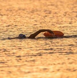 Andning och riktning för simning i öppet vatten