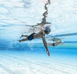 Breathing exercise without swimming equipment