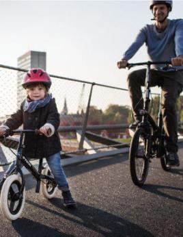 Finding balance on a children's bike