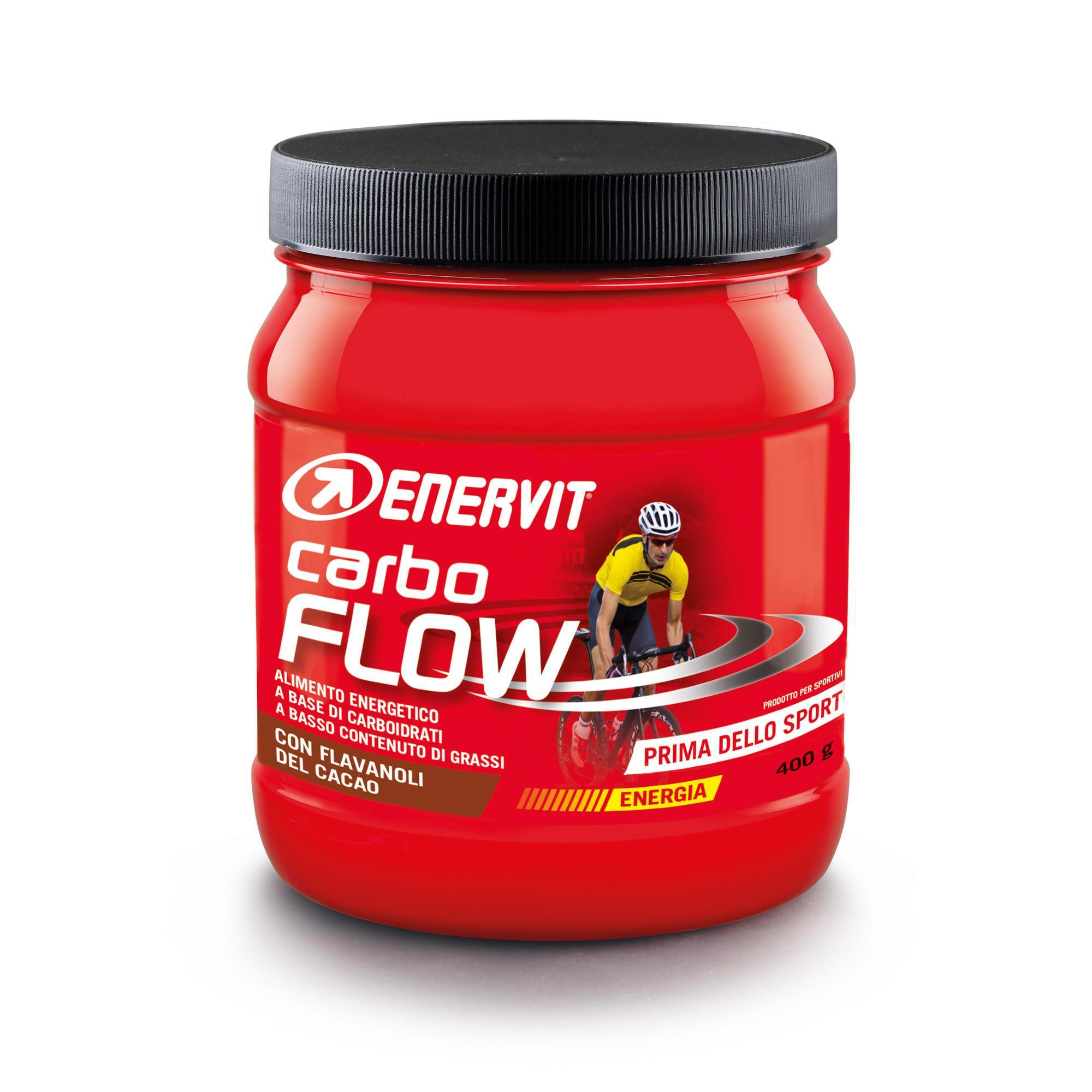 ENERVIT. Bevanda Pre sport Carboidrati in polvere Carbo Flow Cacao 400g Enervit