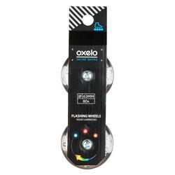 Flash 63 mm 80A Junior Inline Skate Wheels + Bearings - 2-Pack