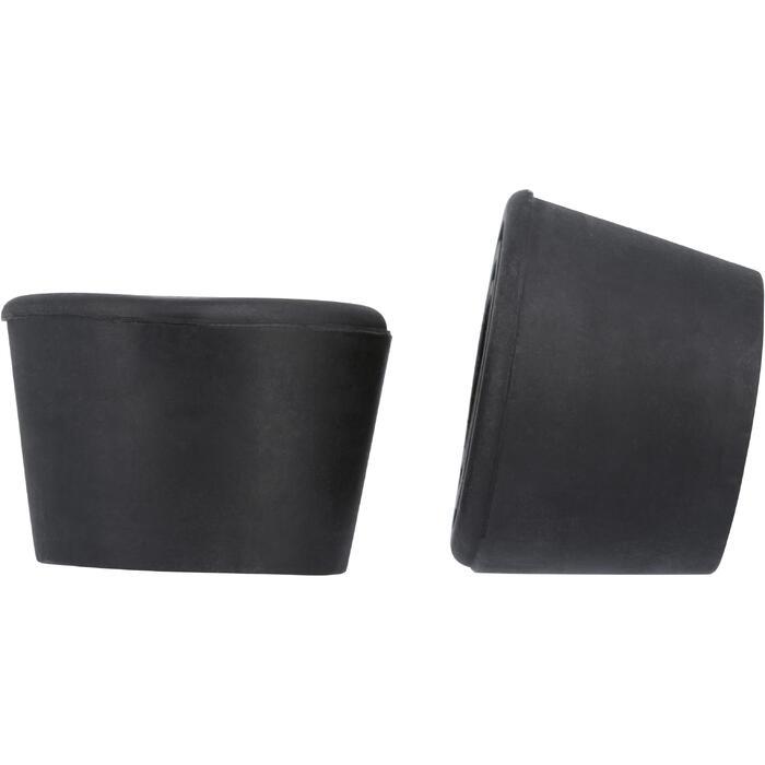 Zwei Bremsstopper für Rollschuhe Quad Erwachsene zwei Stück schwarz