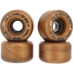 4 wielen voor Oxelo rolschaatsen voor volwassenen, 62 mm/82A brons - 145683