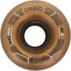 4 wielen voor Oxelo rolschaatsen voor volwassenen, 62 mm/82A brons - 145684