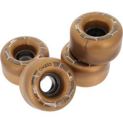 4 wielen voor Oxelo rolschaatsen voor volwassenen, 62 mm/82A brons