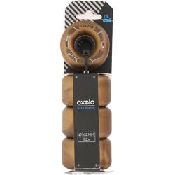 4 wielen voor Oxelo rolschaatsen voor volwassenen, 62 mm/82A brons - 145688