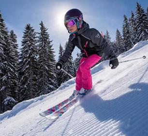 Skihelm dragen