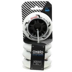 4 ruedas roller fitness FIT 80 mm 84A blanco