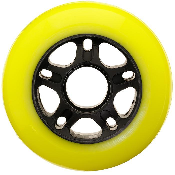 4 wielen voor inlineskates Fit 80 mm 84A geel