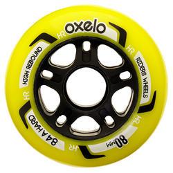 4 wielen voor inlineskates FIT voor volwassenen 80 mm 84A - 14609