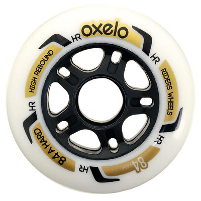84 mm 84A Inline Skating Wheels 4-Pack - White