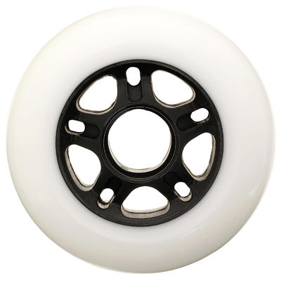 4 roues roller fitness 84mm 84A blanches