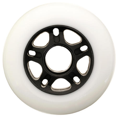 84 mm 84A Inline Skating Wheels 4-Pack White