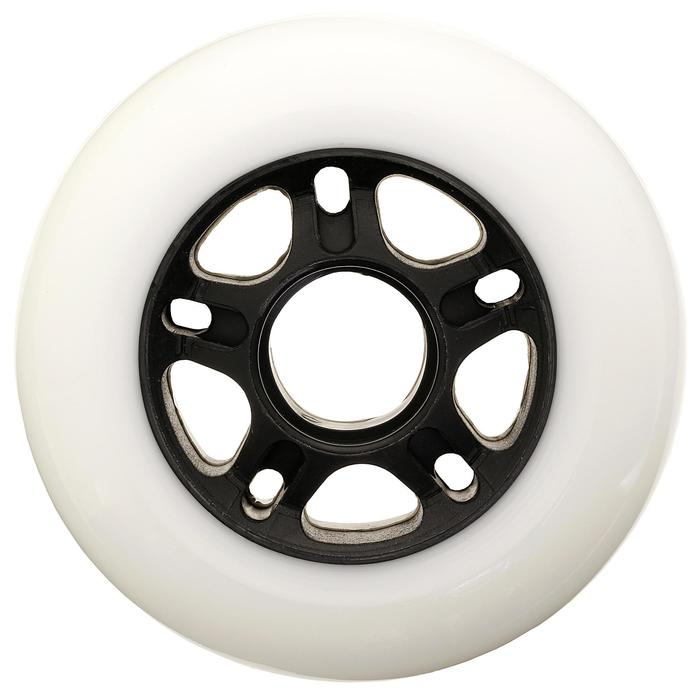 4 roues roller fitness 84mm 84A blanches - 14626