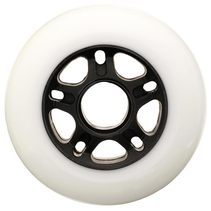 4 ruedas roller fitness 84 mm 84A blanco