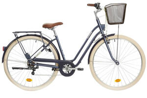 CITY-BIKE ELOPS 520 TIEFER EINSTIEG BLAU B'TWIN