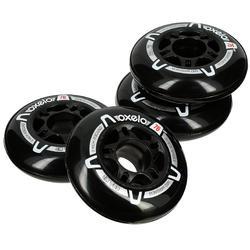 4 wielen voor fitness skeelers voor volwassenen FIT 76 mm 80A zwart