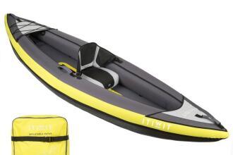 Kayak gonfiabile Itiwit monoposto giallo