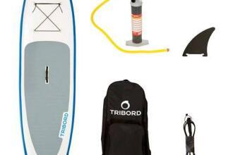 TRIBORD-OPBLAASBAAR-SUPBOARD-9'8-BLAUW