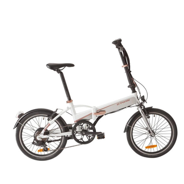 tilt 500e folding electric bike white decathlonsav. Black Bedroom Furniture Sets. Home Design Ideas