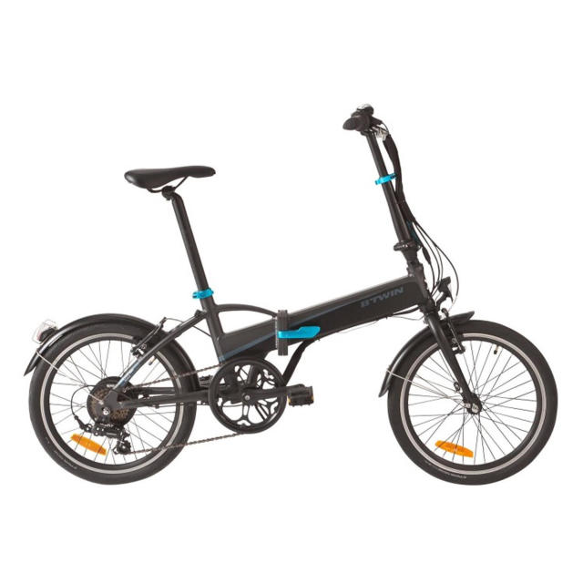 tilt 500e folding electric bike blue decathlonsav. Black Bedroom Furniture Sets. Home Design Ideas