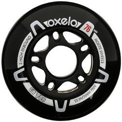 Roda 76 mm 80 kerucut Sepatu Roda Fit x4 - Hitam