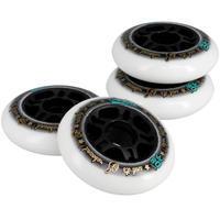 """4 roues de patins à roues alignées entraînement adulte FIT 3,15"""" 80A blanches"""