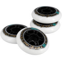Fit Adult Fitness Inline Skating 80 mm 80A Wheels 4-Pack - White