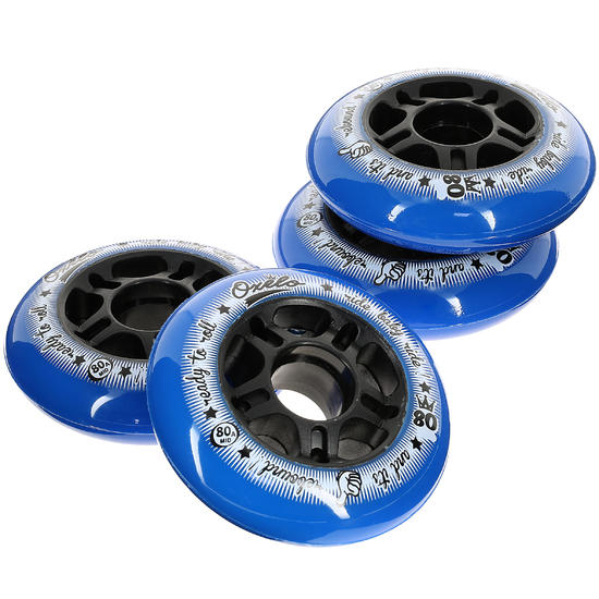 4 wielen Fit voor inlineskates van volwassenen 80 mm 80A - 14650