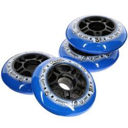 4 FIT-wielen fitness skeelers volwassenen 80 mm 80A blauw