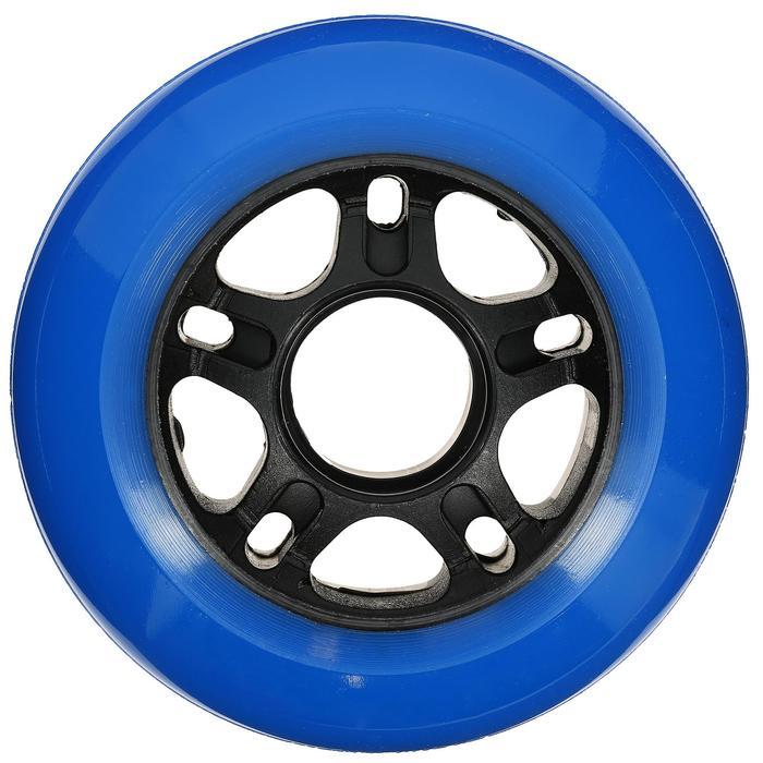 4 FIT-wielen voor inlineskates volwassenen 80 mm 80A blauw