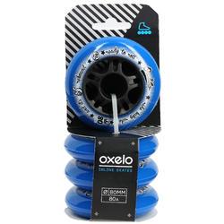 4 wielen Fit voor inlineskates van volwassenen 80 mm 80A - 14652