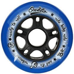 4 wielen Fit voor inlineskates van volwassenen 80 mm 80A - 14655