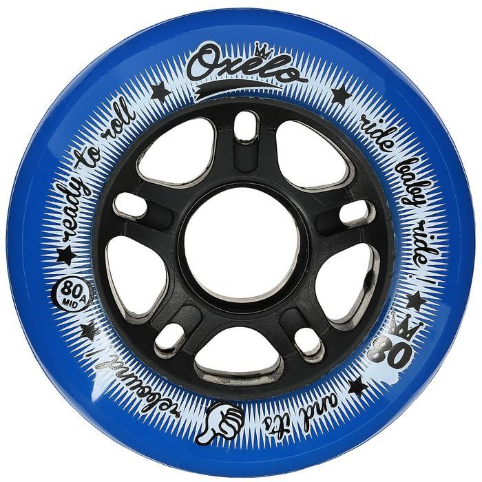 Rollen Fitness Inline-Skates 80mm 80A 4 Stück blau