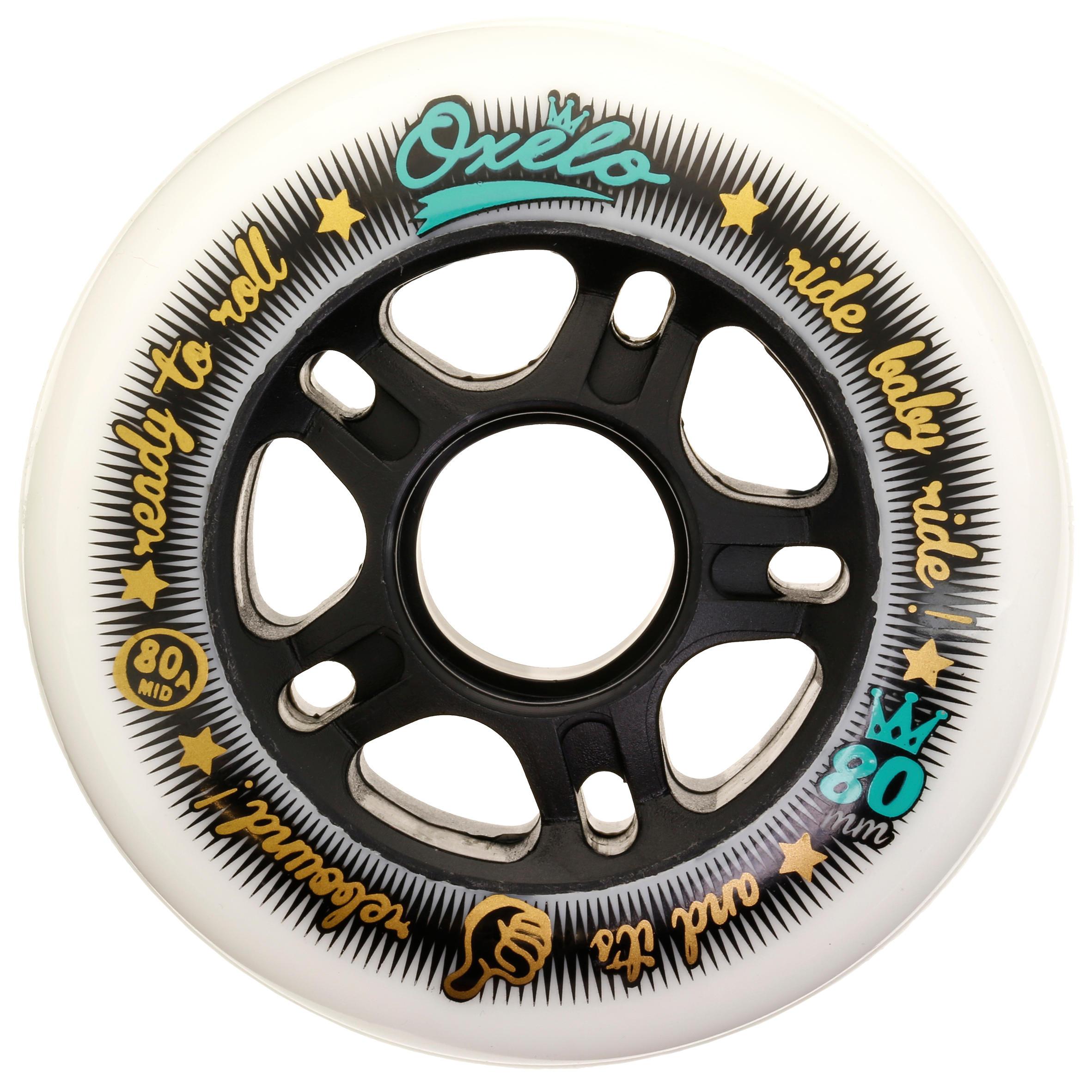 4 roues de patins à roues alignées entraînement adulte FIT 3,15_QUOTE_ 80A blanches