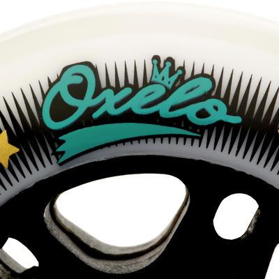 גלגלים לרולר בליידס ספורטיביים למבוגרים 80 מ_QUOTE_מ 80A מארז 4 יח' - לבן