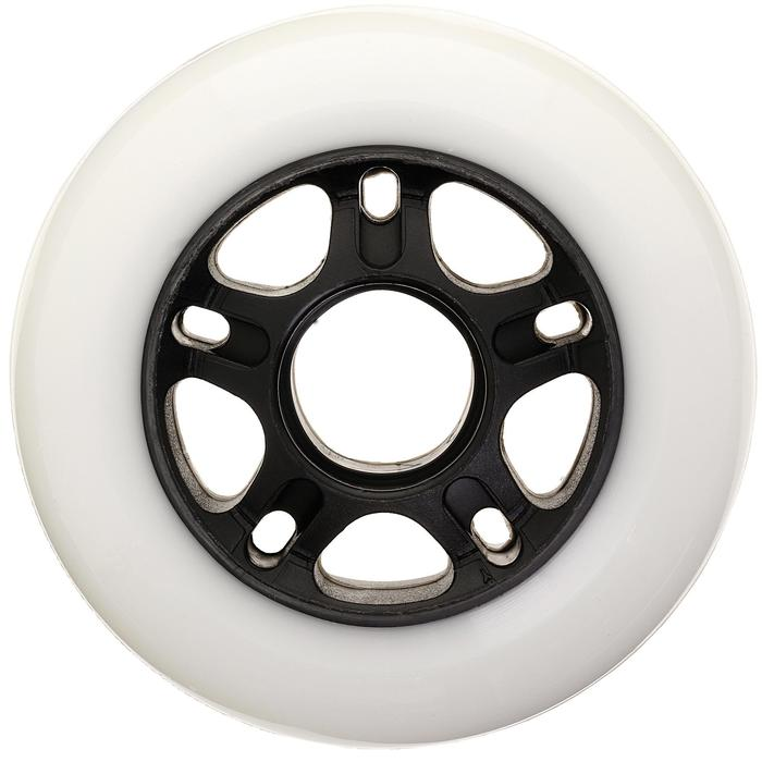 4 ruedas roller fitness FIT 80 mm 84A blanco