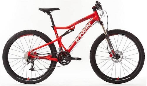 "MOUNTAINBIKE 27,5"" ROCKRIDER 540 S FULLY ALU ROT"