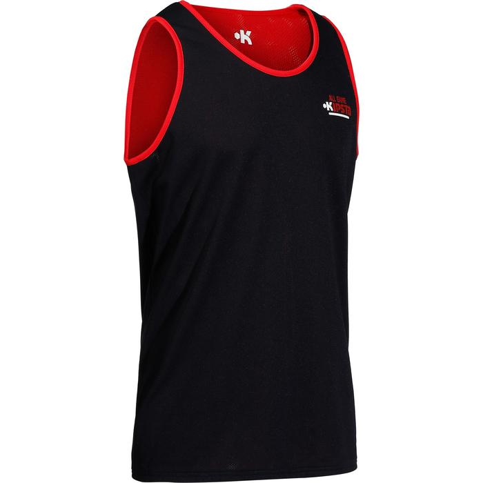 Adult Basketball Reversible Jersey - Navy Blue Red - 147252