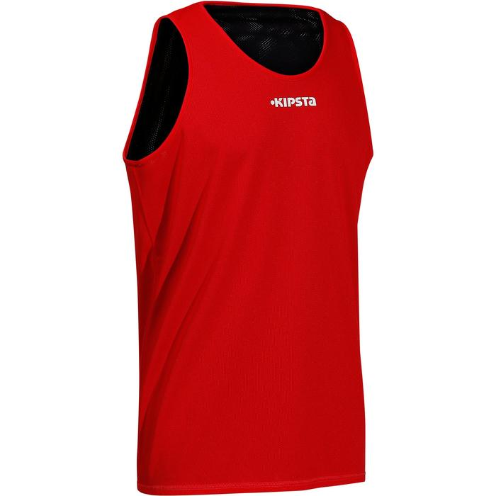 Adult Basketball Reversible Jersey - Navy Blue Red - 147260