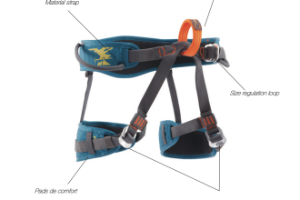 Diagram of Easy3 Simond Climbing Harness from Decathlon